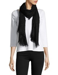 Lord And Taylor Star Print Scarf Black