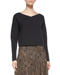Nanette Lepore Ribbed Knit Boxy Pullover Women's