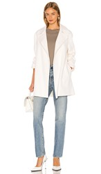 Theory Overlay Coat In Ivory.