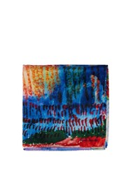 Paul Smith Abstract Silk Pocket Square Multi