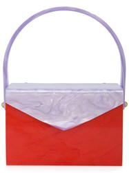 Edie Parker Marbled Clutch Bag Red