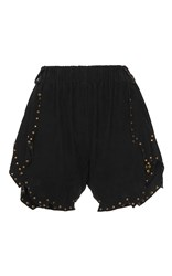 Philosophy Di Lorenzo Serafini Suede Studded Shorts Black