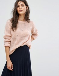 Suncoo Scatter Embellished Knit Sweater Cream
