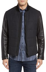 Bugatchi Men's Mixed Media Zip Jacket