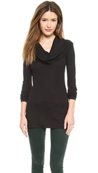 Splendid Thermal Long Sleeve Cowl Neck Black