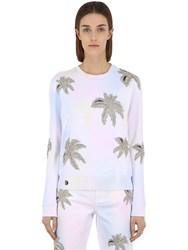 Philipp Plein Embellished Cotton Sweatshirt Multicolor