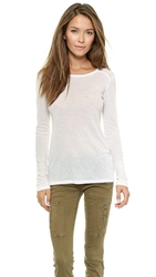 Sundry Long Sleeve Layering Tee White