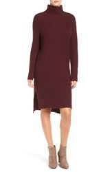 Women's Bp. Mock Neck Knit Sweater Dress Burgundy Stem