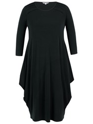 Chesca Tuck Detail Jersey Dress Black