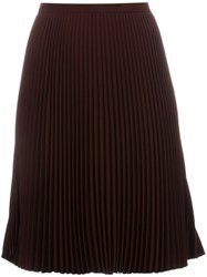 Alberto Biani 'Flada' Pleated Skirt Red