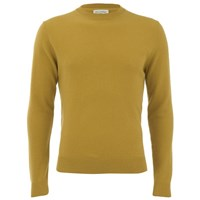 American Vintage Men's Sycamore Cashmere Mix Knitted Jumper Mustard Yellow