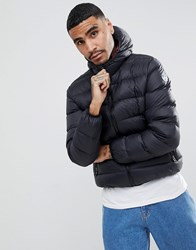 North Sails Hooded Down Puffer Jacket In Black Black 0999