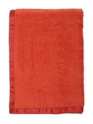 Alessandro Di Marco Cotton Terrycloth Bath Towel Orange