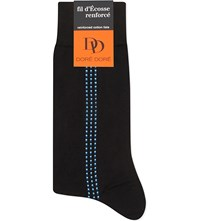 Dore Dore Dotted Stripe Cotton Socks Black Blue