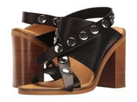 Maison Martin Margiela Adjustable Studded Strap Sandal Black Natural Leather