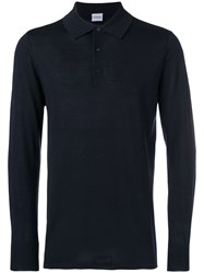 Aspesi Longsleeved Polo Shirt Blue