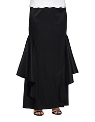 Alex Evenings Textured Column Skirt Black