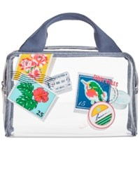 Vera Bradley Beach Cosmetics Case Oxford Postage Stamps
