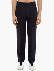 Melindagloss Navy Pleated Loose Trousers