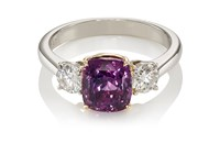 Mcteigue And Mcclelland Women's Three Stone Ring No Color