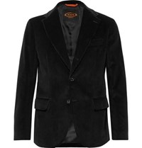 Tod's Black Cotton Velvet Suit Jacket Black