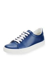 Anya Hindmarch Napa Leather Tennis Sneaker Blueberry