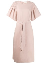 The Great Great. Billow Sleeve Midi Dress Pink
