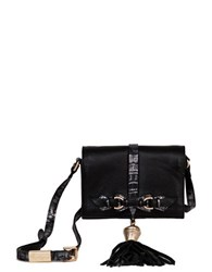 Foley Corinna Bo Tassel Accented Leather Crossbody Black Combo