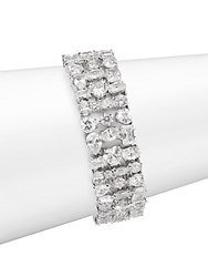 Saks Fifth Avenue Crystal Bracelet Rhodium