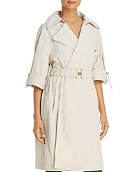 Donna Karan Belted Trench Coat Stone