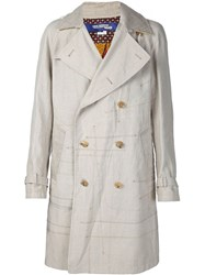 Junya Watanabe Comme Des Garcons Man Exposed Seam Trench Coat Nude And Neutrals