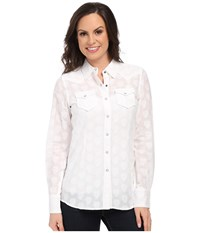 Ariat Monica Snap Shirt White Women's Long Sleeve Button Up