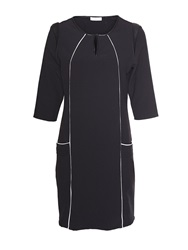 Aaiko Dress With Pu Details Black