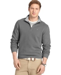 Izod Big And Tall Sueded Quarter Zip Pullover Carbon Heather