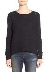Jag Jeans Boat Neck Drop Tail Sweater Petite Black