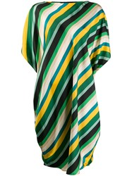 Gianluca Capannolo Silk Striped Oversized Dress 60
