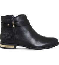 Office Lance Leather Ankle Boots Black Snake Leather