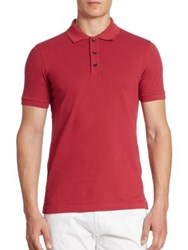 Armani Collezioni Pique Polo Red Raspberry
