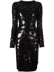 Sibling Sequin Embellished Dress Black
