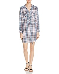 Soft Joie Dashalynn Plaid Shirt Dress Washed Denim