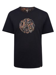 Pretty Green Gretton Paisley T Shirt Black