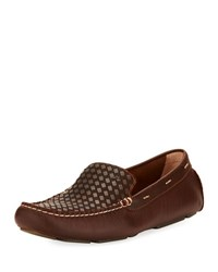 Tommy Bahama Augustine Woven Leather Loafer Brown