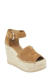Marc Fisher Ltd Adalla Platform Wedge Sandal Cognac Suede