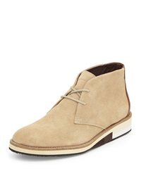French Connection Corian Suede Oxford W Colorblock Heel Sand