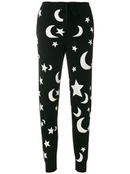 Chinti And Parker Midnight Sky Knitted Track Trousers Cashmere Xs Black