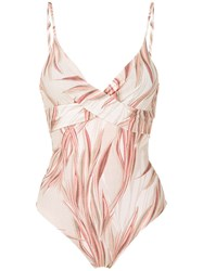 Lygia And Nanny Bianca Printed Swimsuit Neutrals