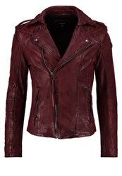 Tigha Marten Leather Jacket Ox Red