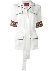 F.R.S For Restless Sleepers Temi Safari Jacket Women Silk L White