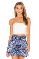 Flynn Skye Bardot Tube Top White