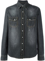 Philipp Plein 'Laguna' Denim Shirt Grey
